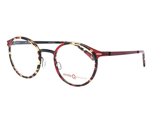 Etnia Barcelona Brille (ULM RDBK) Acetate Kunststoff - Metall marmor stil rot - metalisiert rot