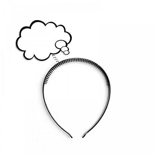 it Sprechblase oder Denkblase Comic Redewolke Karneval Verkleidung Kostüm-Zubehör Popart Accessoire:Denkblase ()