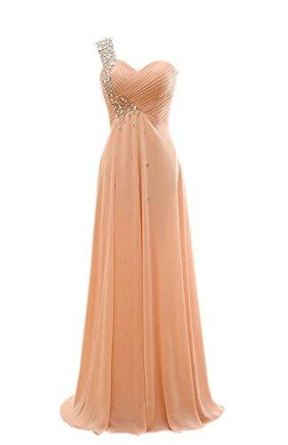 angeldragon épaule dénudée longue en mousseline de soie strass robe froncée à robes Custom Made Colour