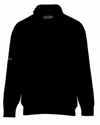 Proquip Herren Pullover  Wasser Abweisende Gefütterte, schwarz, M, PQ-LIN-ZIP-04-M-BLK (Rollkragen-pullover Lambswool)