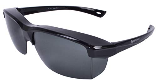 a4dc729a838 Rapid Eyewear 'Vogue' Black Polarized SUNGLASSES THAT FIT OVER Your  Glasses. Will Go