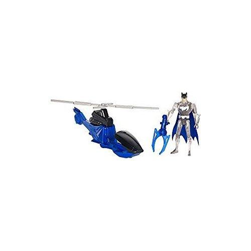 Juego de Figuras y vehículos de la Liga de la Justicia 900 FGP21 Batman/Batcopter