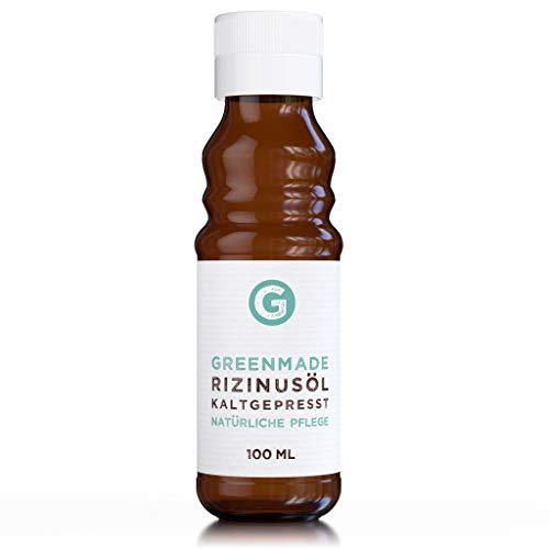 Rizinusöl kaltgepresst (100ml) - 100% reines Öl zur Pflege von Haut und Haaren (Glasflasche)