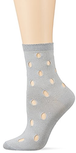 Burlington Damen Socken Shiny Holes, Silber (Silver 3290), 36/41