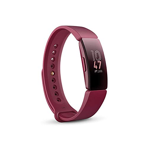 Fitbit Inspire Gesundheits- & Fitness Tracker mit automatischer Trainings Erkennung, 5 Tage Akkulaufzeit, Schlaf- & Schwimm-Tracking, Sangria