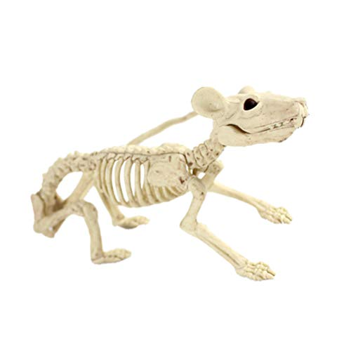 BESTOYARD Tier Skeleton Knochen Horror Halloween Dekoration Halloween Prop Skelett Dekoration (Ratte)