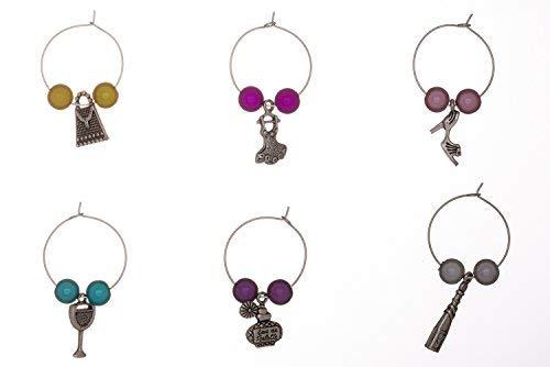 Girl 's Night Out Weinglas-Charms mit Organza Geschenkbeutel handgefertigt von Libby 's Market Place -