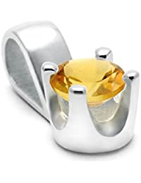 Mystic Silver - Precioso colgante - Piedra natural de el citrino Alta Calidad, Plata de ley 925. 1g