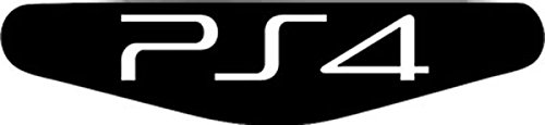 Play Station PS4 Lightbar Sticker Aufkleber PS4 (schwarz)