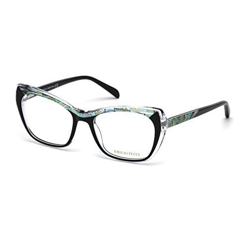 emilio-pucci-ep5052-005-occhiale-da-vista-nero-black-eyeglasses-sehbrille-new