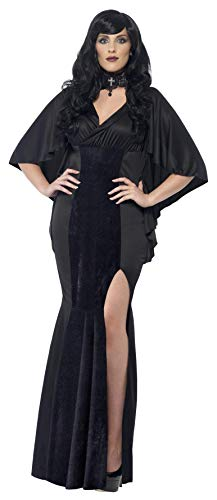 Vamp Kleid (Smiffys, Damen Vamp Kostüm, Kleid, Größe: X1, 44338)