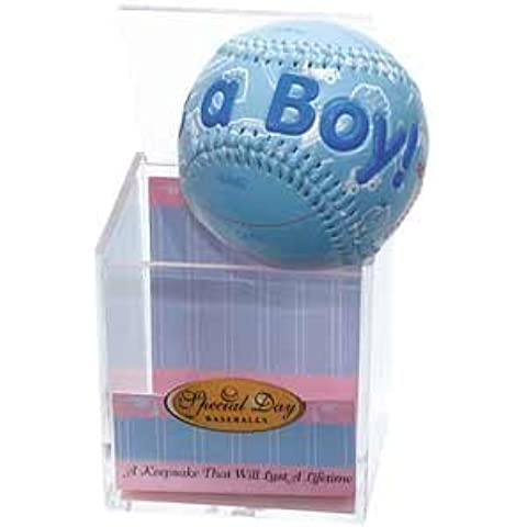 IT'S A BOY Baseball -BIRTH ANNOUNCEMENT/Keepsake/GIFT/BLUE - INCLUDES DISPLAY BOX/Shower/CHRISTENING/NEW BABY GIFT by K&G - Baseball Keepsake
