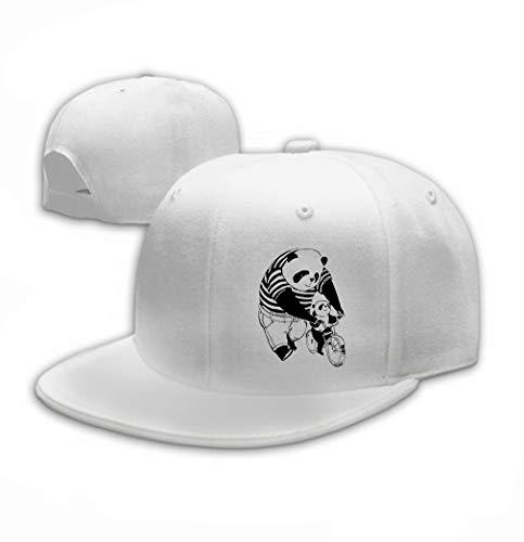 Xunulyn Unisex Baseball Caps Adjustable Plain Dad Hat Sun Cap Illustration Father Panda Black White Teaching cycli White