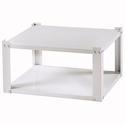 Xavax Trockner-/Waschmaschinen-Untergestell (Unterbau-Sockel mit Ablagefach, inkl. Vibrationsdämpfer, 61x50 cm, auch geeignet für Kühlschrank/Gefrierschrank) weiß