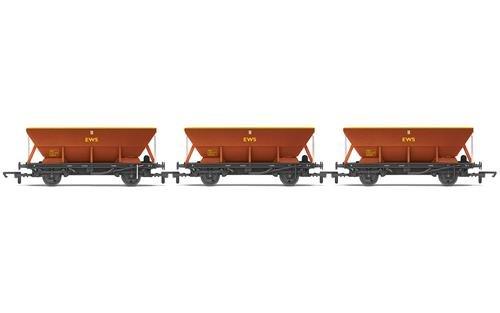 Hornby R6885 EWS HEA Hopper Wagon - Carro de Carga (3 Unidades)