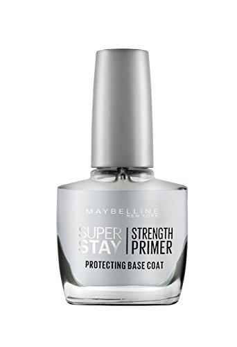 Maybelline New York Super Stay Nail Primer Protecting Base Coat, Clear, 10g