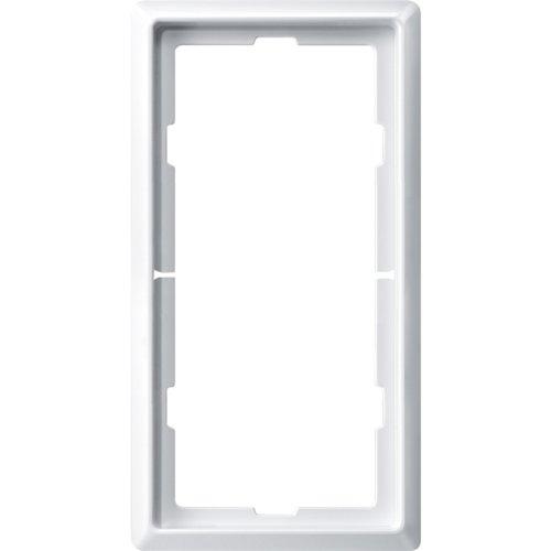 Merten 481819 ARTEC-Rahmen, 2fach ohne Mittelsteg, polarweiß