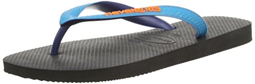 Havaianas Top Mix, Infradito Unisex-adulto, Black/Capri, 47/48 EU (45/46 BR)