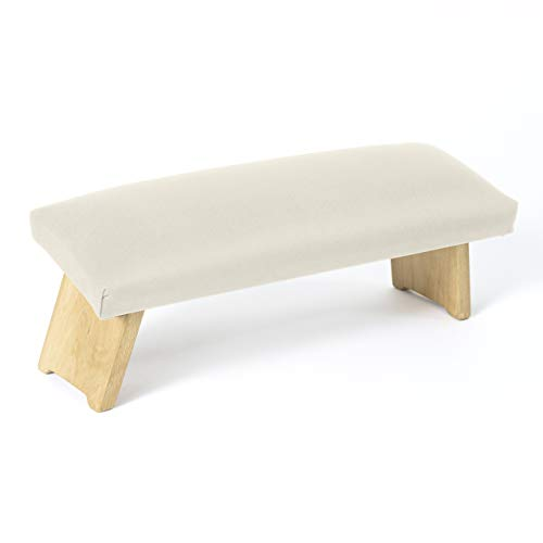 Lotuscrafts Meditationsbank Klappbar Dharma mit Gepolsterter Sitzfläche - Made in Europe - Yoga Hocker aus Holz - Kniesitz Meditationsbank für eine Tiefe Meditation