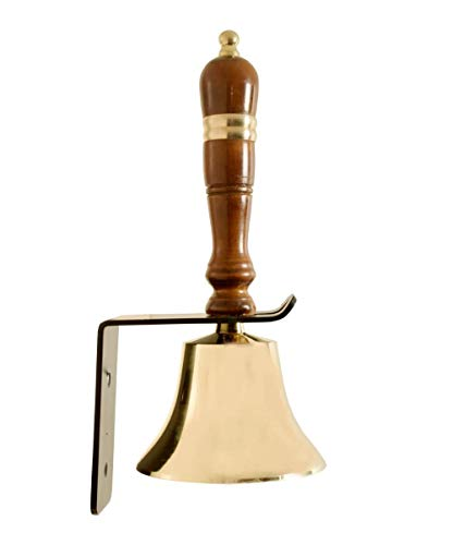 ARSUK Hand School Bell Traditional style school hand bell wooden Handle solid Brass bell