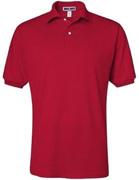 Jerzees 5,6oz. 50/50de la Hombres Jersey Polo con Spotshield