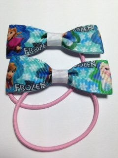 Frozen Snowflakes Design Featuring Elsa and Anna Hair Accessory Bobble