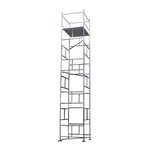 4' Base (Classic 7.70m DIY Galvanised Scaffold Tower & Boards (25'3 x 4' x 4' Base) by Toptower)