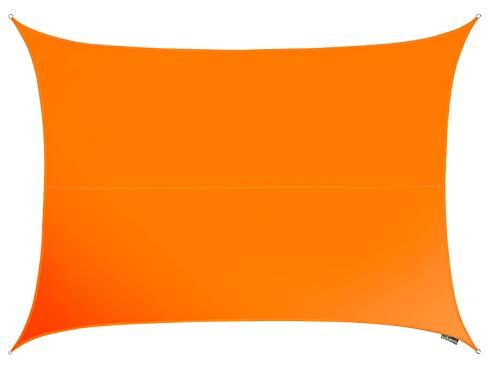 Kookaburra Wasserfest Sonnensegel 4,0m x 3,0m Rechteck Orange