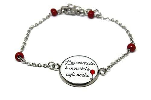 Braccialetto Piccolo Principe - L'essenziale è invisibile agli occhi - Bracciale rosario - Bracciale acciaio