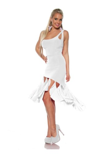 Angies Glamour Fashion - Robe - Asymétrique - Femme Weiß