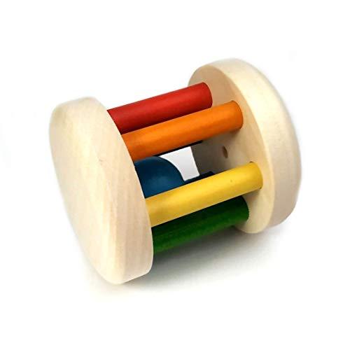 brandsplus Bunte Holz-Rassel - bunter Greifling aus Ahorn - das Spielzeug für Kleinkinder Made in Germany in Praunheimer Werkstätten (Rassel)
