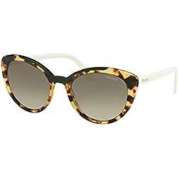 Prada 0PR 02VS Gafas de sol, Medium Havana/Green, 54 para Mujer