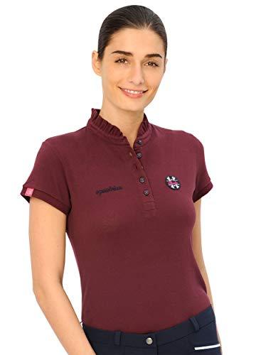 SPOOKS Poloshirt Damen Mädchen Kinder, Polo Shirt tailliert Sommer Tshirt Hemd Sport - Damenpoloshirts Kurzarm Viola - Bordeaux m - Polo-shirts Frauen