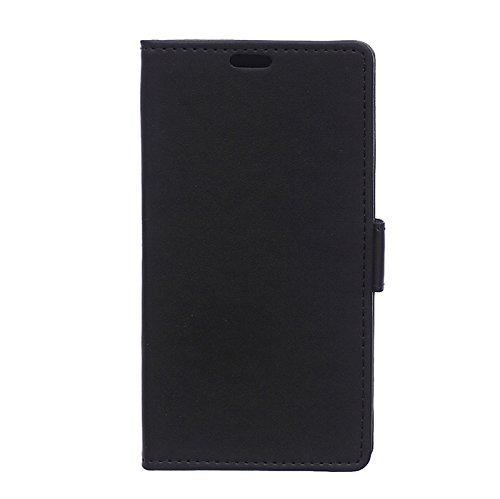 Locaa(TM) For ZTE Nubia Z9 Max 5.5 inch Schutzhülle Hülle Leder Case Hochwertige Scratch Stoßstange Schale Fall einfach Hochwertige Cover Abdeckung Shell [Ordinary Serie 1] Black
