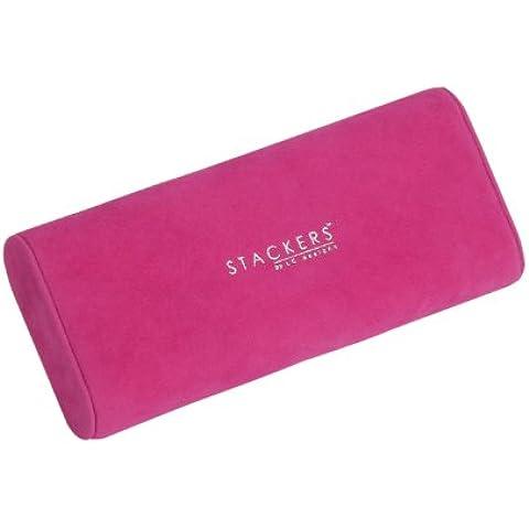Stackers jewelry box accessory |reloj y el cojín pulsera, de terciopelo de color rosa