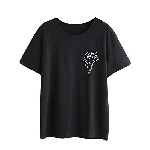 pitashe T-Shirts Damen, Niedliche Mode Muster Shirts Tops Damen Sommer Sexy Pulli Damen Elegant Damen Kurzarm T Shirt Teenager MäDchen Hoodie MäDchen Oberteil Damen Kurzarm-Shirt (6 Boot Glocke)