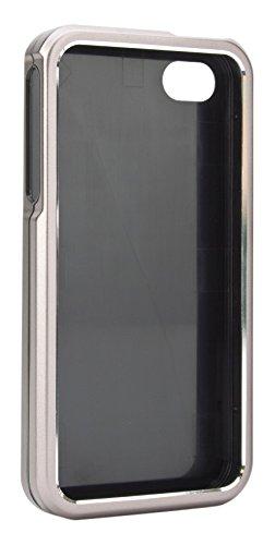 xqisit 11326 iPlate Solid Alu Grey für iPhone 4/4S Schutzhülle Hardcase Cover Grau ( Aluminium )