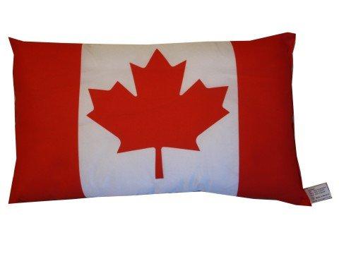 Kanada Kissen Fahnen Deko Autokissen Canada Fan , beide Seiten bedruckt ca. 28 x 40 cm. (Kanada Flagge Kissen)