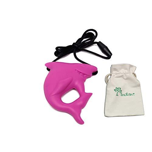 Haifisch-Zahn Sinnes Chew Halskette für Kinder, Jungen und Mädchen - für den Zahnen, Autismus, Beißen, Kauen - Sensorische Beißring Anhänger (Haifisch Für Zahn Halskette Kinder)