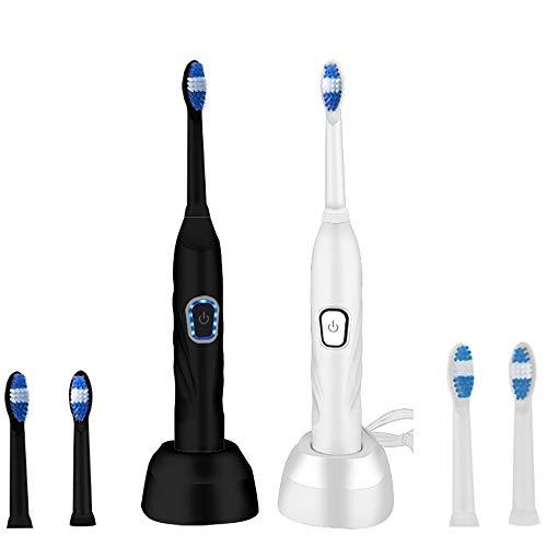 GUOxufei Wieder aufladbare elektrische Ultraschallzahnbürste USB-2pcs, wasserdichte Körperwäsche mit 7 Niveaus, intelligente Zahnbürste der Mundpflege,A - Intelligente Zahnbürste Wechselkopf