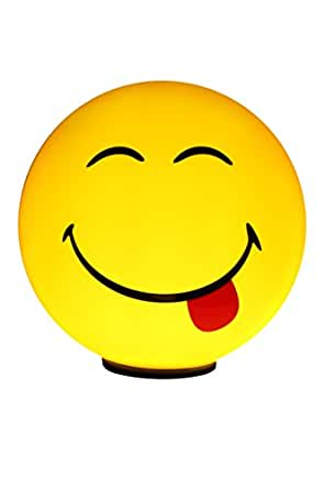 Smiley World IL-01101-03661 TL Fun Smiley Lampe LED Plastique Jaune 17 x 16,5 x 16,5 cm