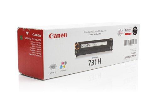 Preisvergleich Produktbild 1x Original XL Canon Toner 6273B002 731H 731HBK für Canon I-Sensys MF 628 CW - BLACK - Leistung: ca. 2400 Seiten/5% -