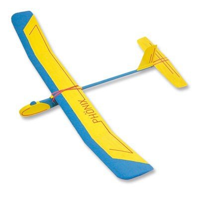 gelflieger A1 Gleiter Flugzeug 90 cm Bausatz f. Kinder Werkset Bastelset ab 11 Jahren (Wäscheklammer-flugzeug)