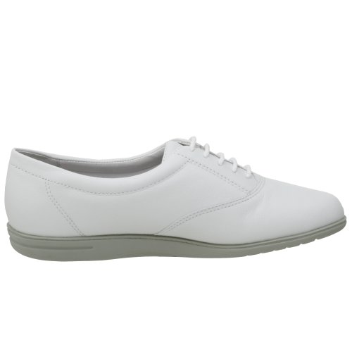 Easy Spirit Motion Breit Rund Leder Schnürschuh White Leather