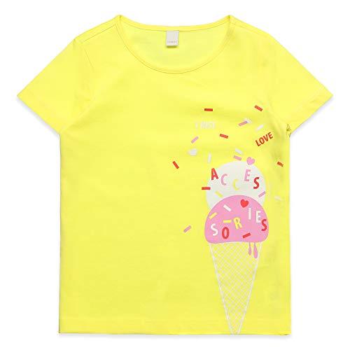 ESPRIT KIDS Mädchen SS T-Shirt, Gelb (Lemon 711), (Herstellergröße: 116+)
