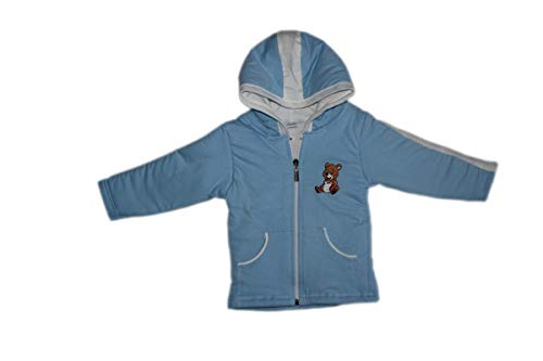 Brim Hugs and Cuddles Sweater/Winter Jackets with Hood and Zipper for Baby Girl and Baby boy(Blue,5 Years)