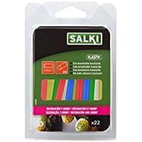 Salki Pack de 22 Barras de Silicona Caliente Translúcida, Translúcida, 8 mm