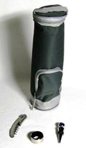 Weinkühler, Weinkühltasche mit Kellnermesser, Flaschenverschluß und Tropfring