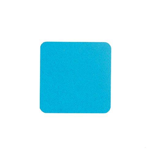 Filzuntersetzer Tassenuntersetzer Glasuntersetzer Tischschoner Filz Untersetzer abgerundet eckig quadratisch ca. 4mm dick ca. Ø 10 cm Durchmesser (4 Stück ca. Ø 10 cm, 57 Türkis)