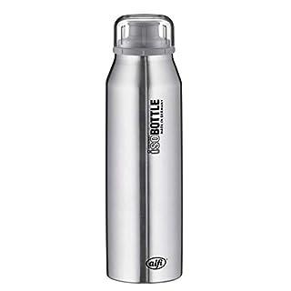 alfi 5677.102.050 Isolier-Trinkflasche isoBottle, Edelstahl Pure 0,5 l, 12 Stunden heiß, 24 Stunden kalt, Spülmaschinenfest, BPA-Free